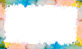 Colorful painted watercolour frame Stock Photography