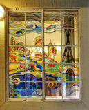 Colorful painted window. Stock Photos