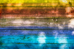 Colorful Painted Wood Background Royalty Free Stock Image