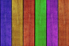 Colorful painted wood plank wall background Stock Photography