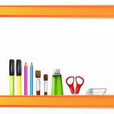 Colorful painter tools Stock Photography