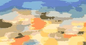Colorful painting abstract background in blue orange yellow pink brown Stock Images
