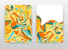 Colorful painting background business annual report brochure flyer design. Yellow blue orange abstract brochure template include stock illustration