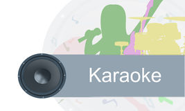 Colorful painting background music.. Karaoke colorful painted background Royalty Free Stock Photos