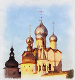 Colorful painting of Church of Resurrection Stock Photography