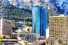 Colorful painting of cityscape of Monte Carlo Stock Photography