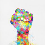 Colorful painting of hand Royalty Free Stock Images
