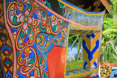 Colorful painting texture on koleh tradition boat. Southern of thailand royalty free stock photo