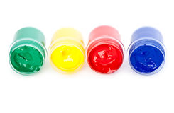 Colorful paints Royalty Free Stock Photo