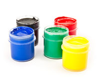 Colorful paints Stock Photo