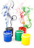 Colorful paints stock photo