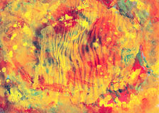 Colorful paints canvas abstract art for design or background Stock Image