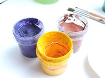 Colorful paints  Royalty Free Stock Photography