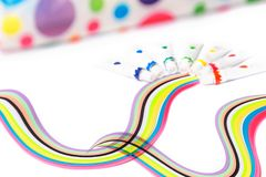 Colorful paints for drawing, rainbow. Gouache for creativity Stock Photo