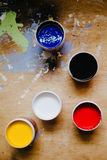 Colorful paints Royalty Free Stock Image
