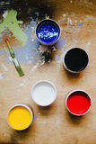 Colorful paints Stock Image
