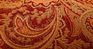 Colorful Paisley. A closeup of a colorful paisley pattern Royalty Free Stock Photography