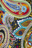 Colorful paisley background Stock Images