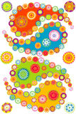 Colorful paisley elements Royalty Free Stock Photography