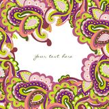 Colorful paisley frame. This is file of EPS8 format Royalty Free Stock Photography