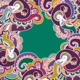 Colorful paisley frame Royalty Free Stock Photo