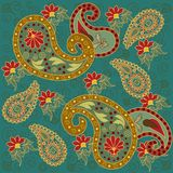 Colorful Paisley in Green Royalty Free Stock Photography