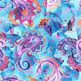Colorful Paisley pattern Royalty Free Stock Images