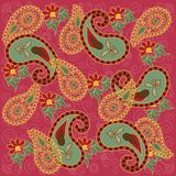 Colorful Paisley in Pink Royalty Free Stock Images