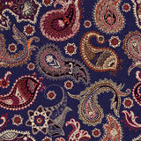 Colorful Paisley seamless pattern. Original decorative backdrop Stock Images