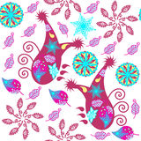 Colorful Paisley seamless pattern and seamless pattern in swatch Stock Photo