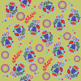 Colorful Paisley seamless pattern and seamless pattern in swatch Royalty Free Stock Photos