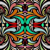 Colorful paisley seamless pattern. Vector floral patterned backg stock illustration