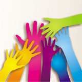 Colorful paited hands Royalty Free Stock Photos