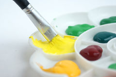 Colorful palette Stock Photography