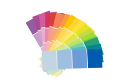 Colorful palette. Isolated on a white background Royalty Free Stock Photo