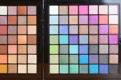 Colorful palette for fashion makeup Royalty Free Stock Photos