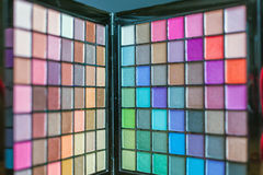 Colorful palette for fashion makeup Stock Images