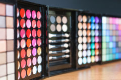Colorful palette for fashion makeup Royalty Free Stock Photo