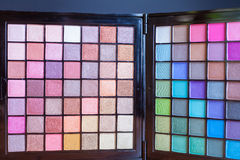Colorful palette for fashion makeup Stock Photos