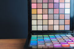Colorful palette for fashion makeup Stock Photo