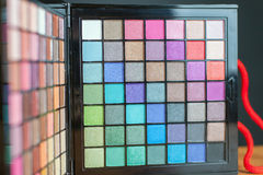 Colorful palette for fashion makeup Royalty Free Stock Image