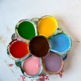 Colorful palette. With grungy bg Royalty Free Stock Photos