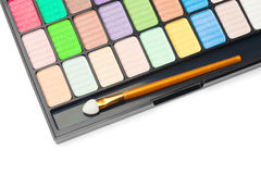 Colorful palette for makeup. On white background Royalty Free Stock Photography