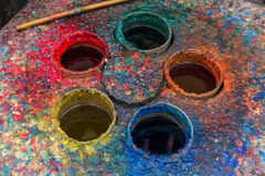 Colorful palette with some colors and tones.  royalty free stock photography