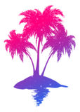 Colorful palm island Royalty Free Stock Photography