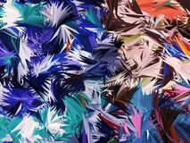 Colorful palm leaf abstract background Royalty Free Stock Images