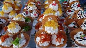 Colorful of pancake Thai. Royalty Free Stock Photos