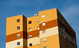 Colorful panel house Royalty Free Stock Photo