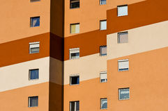 Colorful panel house Stock Photography