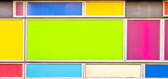 Colorful panels. Colorful rectangular panels as a background image Stock Photo
